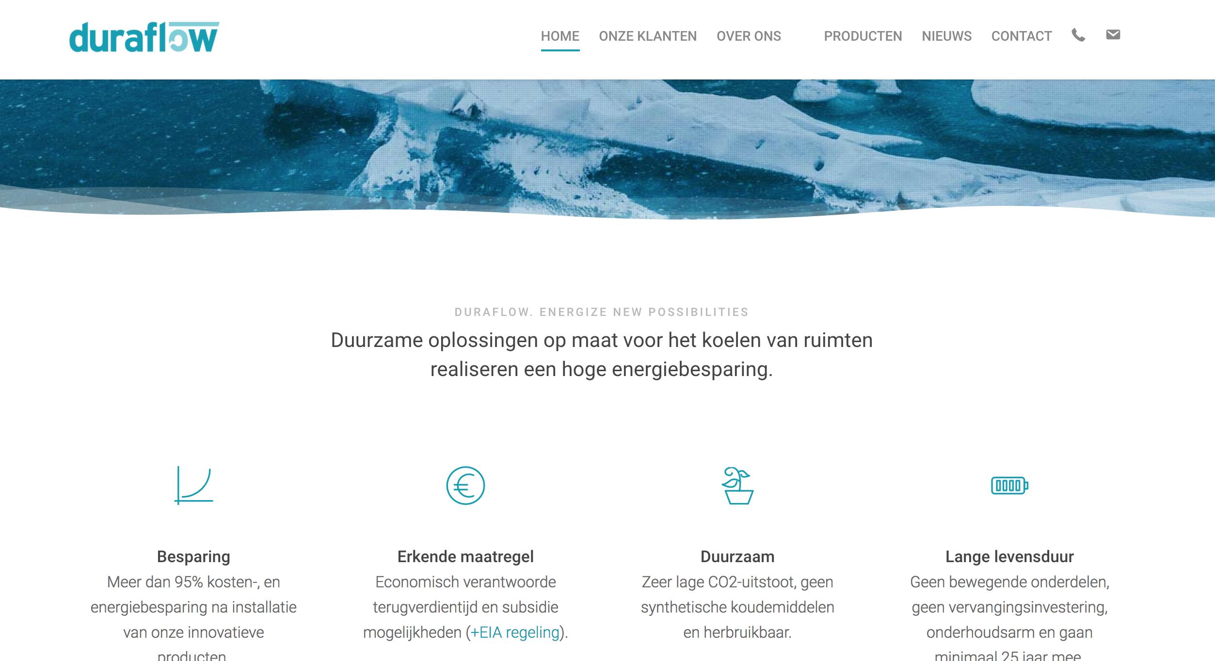 Duraflow lanceert nieuwe website